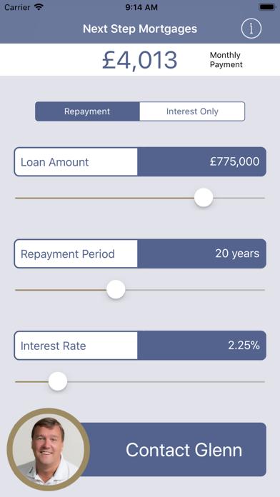 Next Step Mortgages Calculator screenshot one