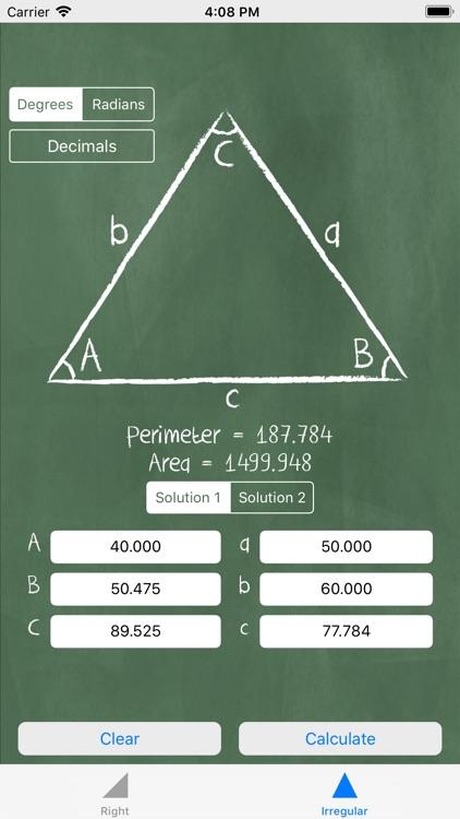 Triangle Solver - Trigonometry screenshot-3