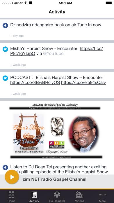 zim NET radio Gospel Channel screenshot two
