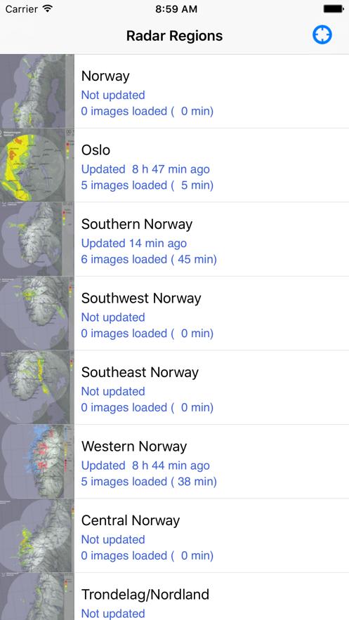 Nordic Radar App 截图