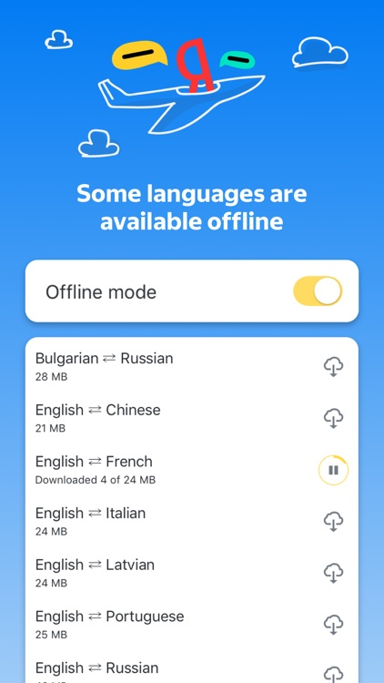 Yandex.Translate: 95 languages