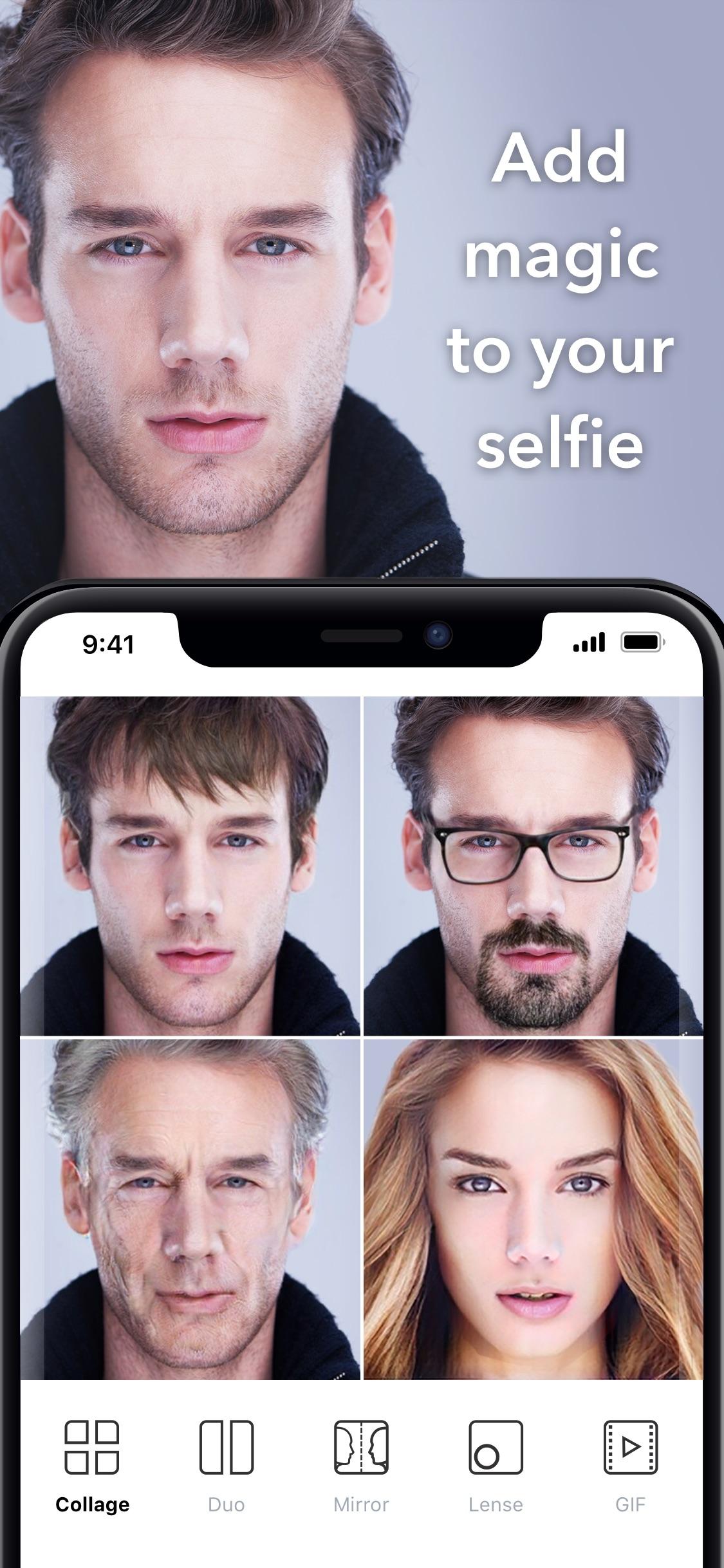 Screenshot do app FaceApp - AI Face Editor