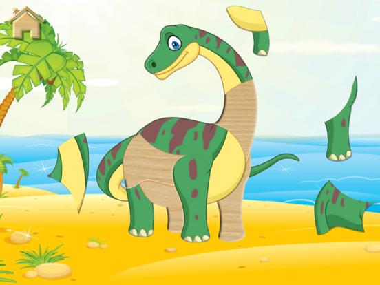 Динозавры, пазлы - полная игра для iPad