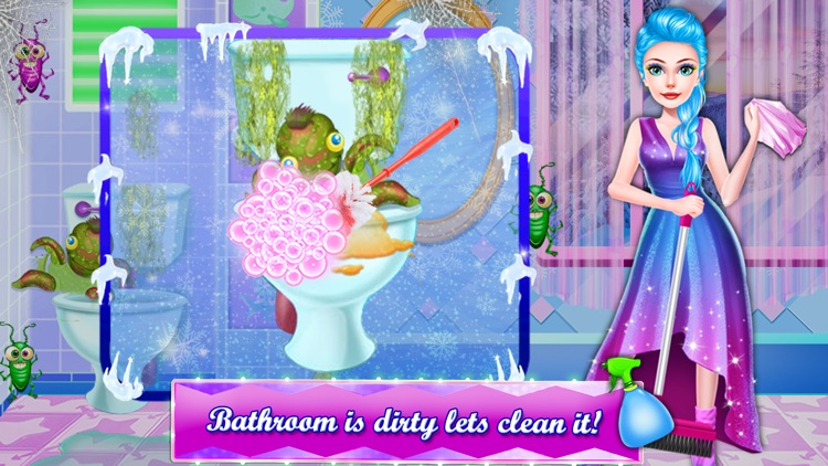 Ice Princess Cleaning Game