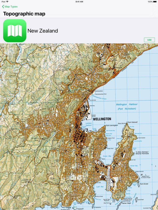 Topographic Map Of New Zealand.Topo Maps