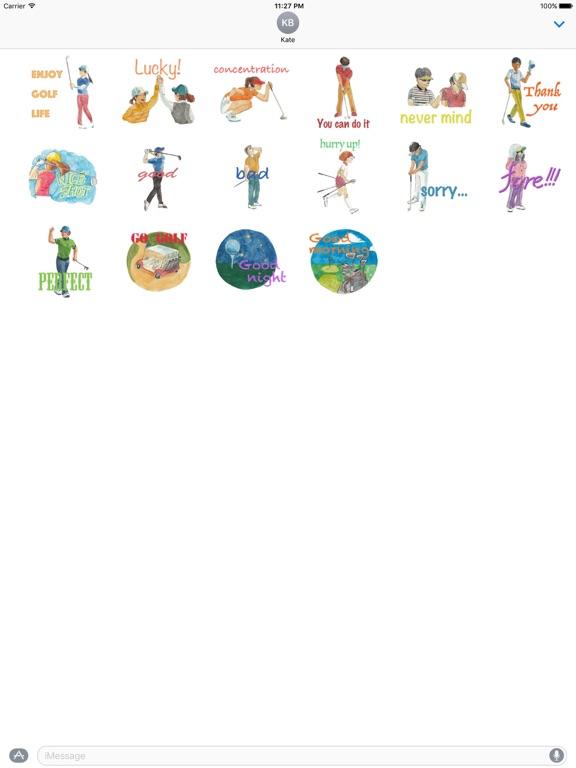 Watercolor Golf Sticker screenshot 3