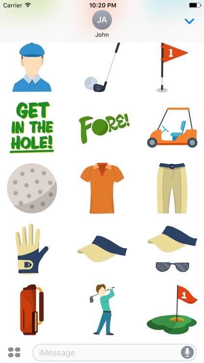 Fore! Golf Emoji screenshot-3