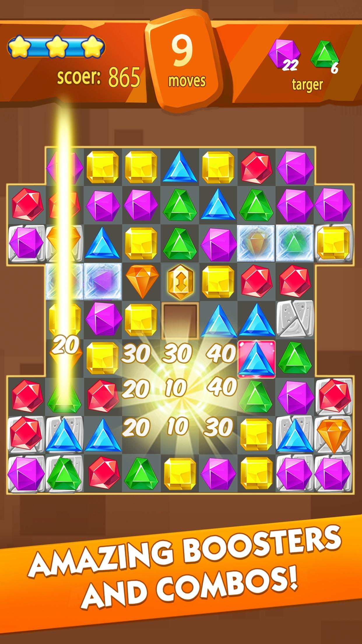 Jewel Fever - Match 3 Games Screenshot