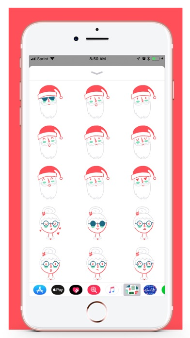 Her Holiday Stickers screenshot two