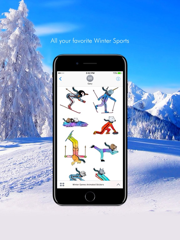 Winter Games Animated Stickers screenshot 4