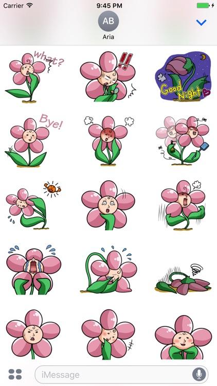 Beautiful Ms. Flower Sticker