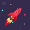 Swipe your finger to guide a rocket, beware of red and blue meteorite