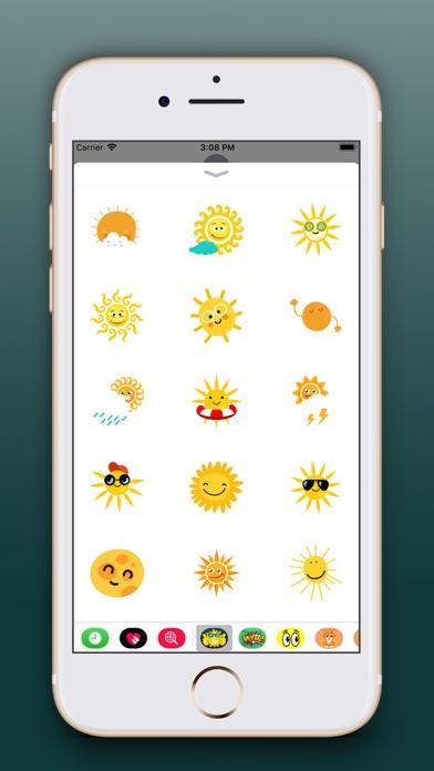 Sun Emoji Stickers Pro screenshot two