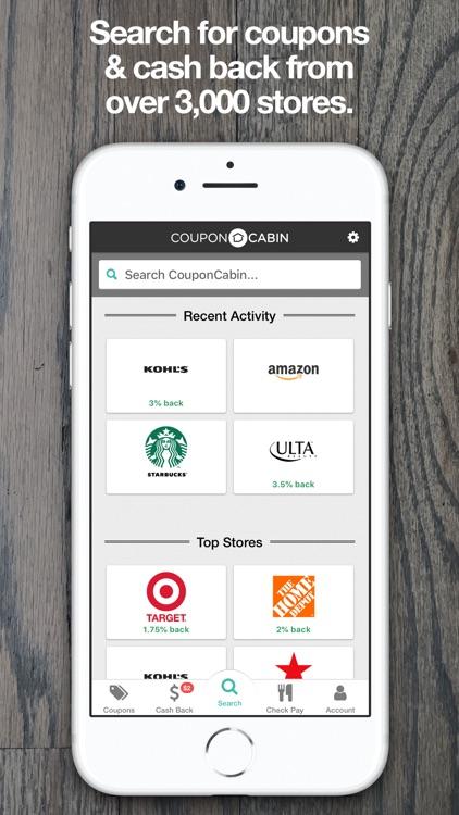 CouponCabin: Cash Back & Deals screenshot-3