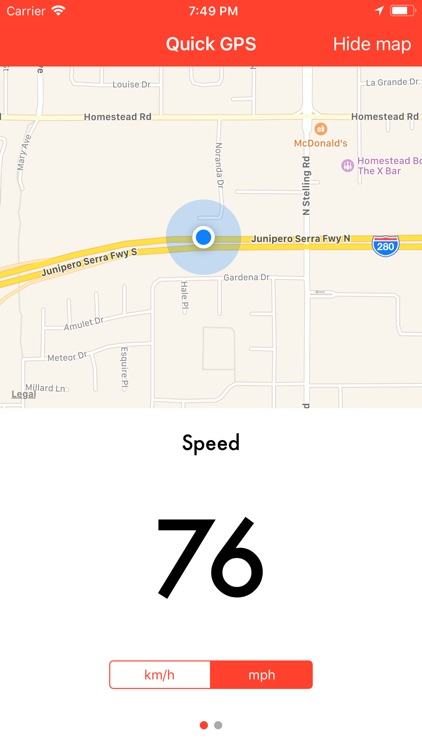 Quick GPS Speedometer screenshot-1
