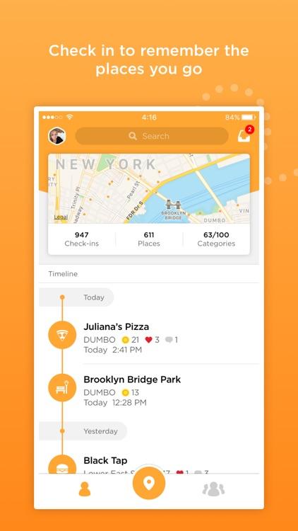 Foursquare Swarm: Check-in App screenshot-0