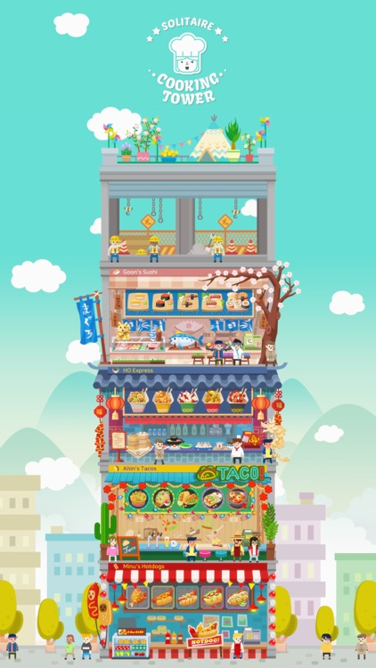 Solitaire Cooking Tower screenshot-0