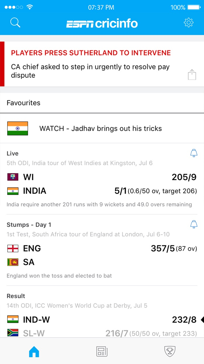 ESPNcricinfo Cricket Screenshot
