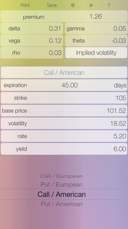 Options Lt - option calculator