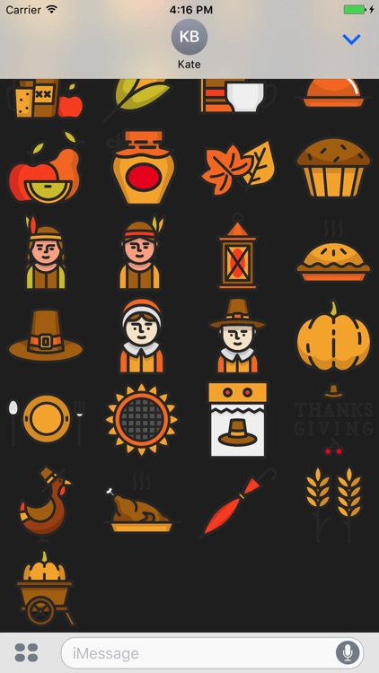 Happy Thanksgiving Stickers.
