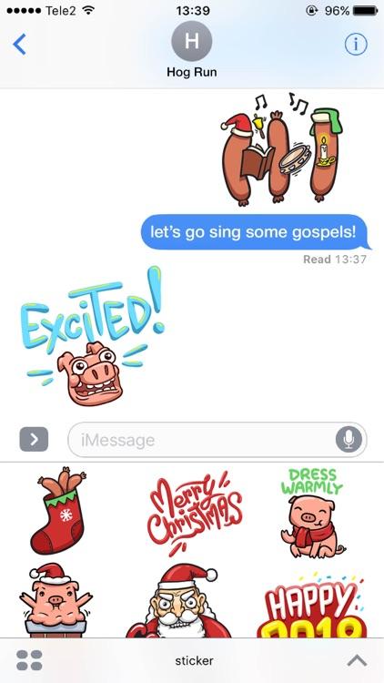 Hog Run Stickers