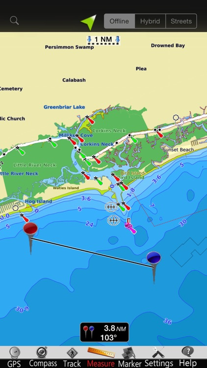 Carolina N GPS Nautical Charts screenshot-3