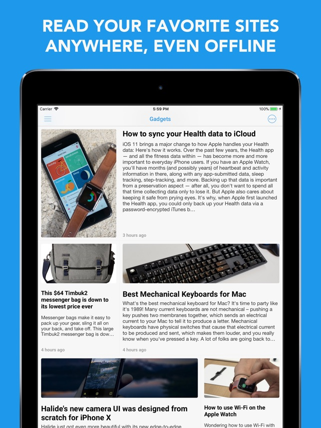 Newsify RSS Reader Screenshot