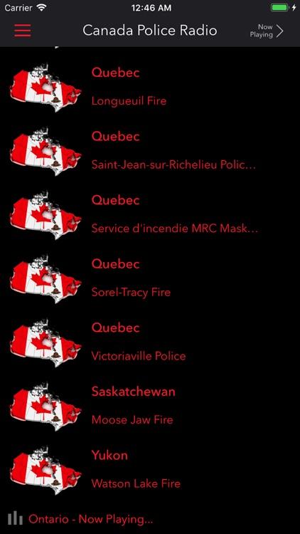 Canada Police Radio