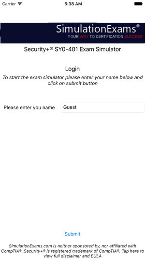 Exam Simulator For Security+ on the App Store