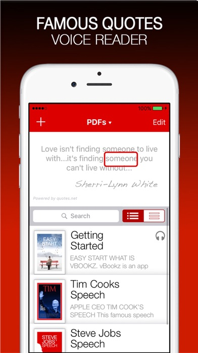 vBookz PDF Voice ReaderScreenshot von 5