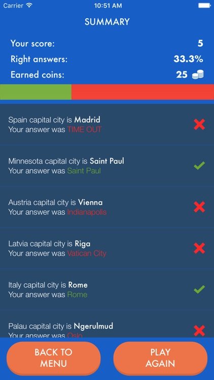 European Capitals & World Cities Geo Quiz Trivia screenshot-4