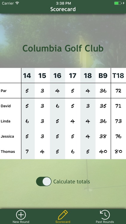 Par Card - The Golf Scorecard