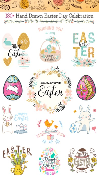 Hand Drawn Easter Day Stickers screenshot 1