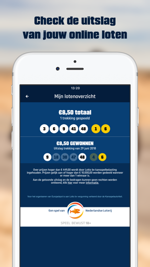 nederlandse lotto app