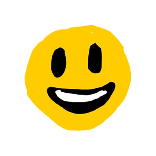 Hand drawn emoji - funny smile