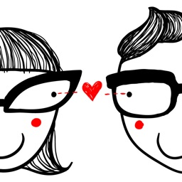 Animated Couple Love Stickers