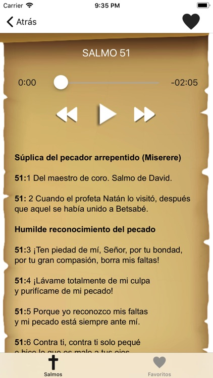 Biblia: Salmos con Audio screenshot-1