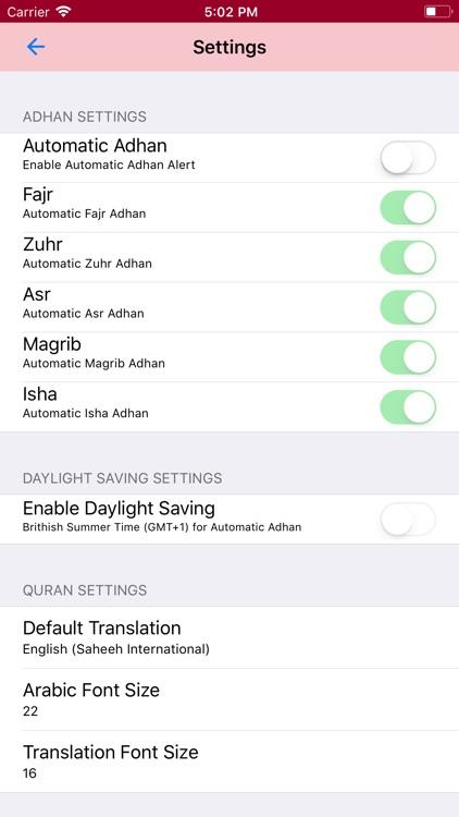 Prayer Timetable KTBAM screenshot-9