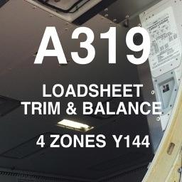 A319 LOADSHEET T&B 144 4z PAX