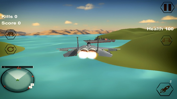 Jet Plane War Combat 2k17 screenshot-3