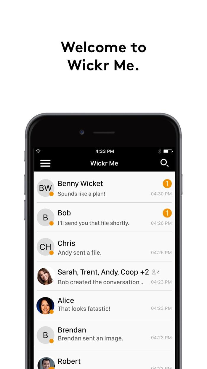 Wickr Me - Private Messenger Screenshot