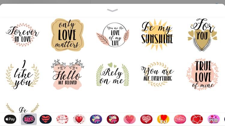 Valentines Day Love Sticker IM screenshot-3
