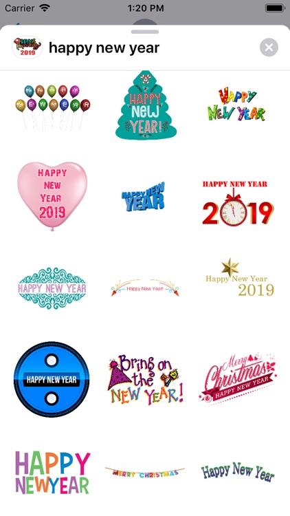 Happy New Year 2019 Sticker screenshot-3