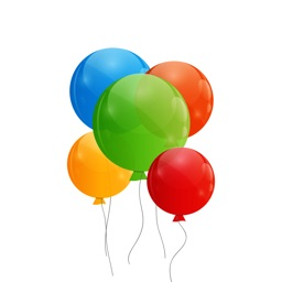 Colorful Balloons Text Sticker