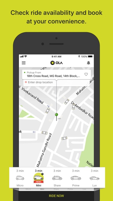 Screenshot for Ola Cabs in India App Store