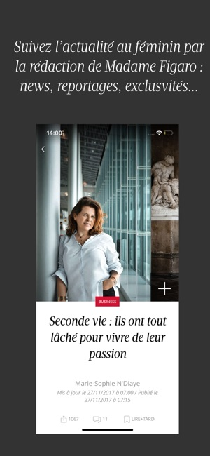 madame figaro le news f minin dans l app store. Black Bedroom Furniture Sets. Home Design Ideas