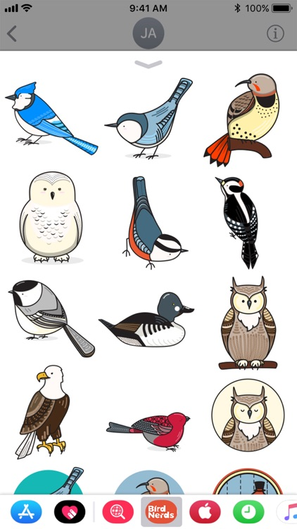 Bird Nerds Stickers