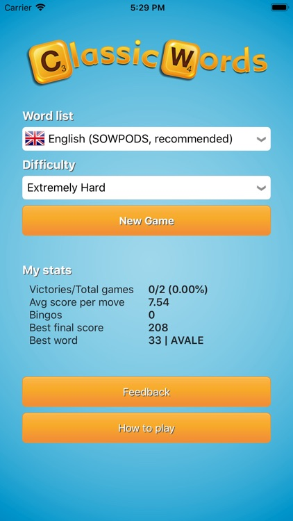 Classic Words (solo word game) screenshot-3