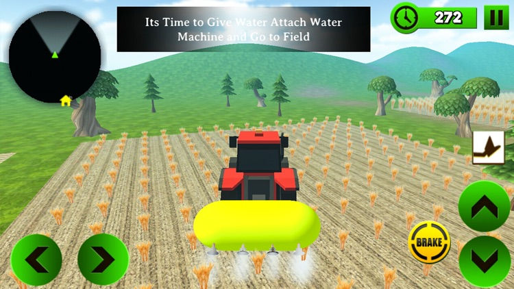 Block Farming Tractor Sim screenshot-3