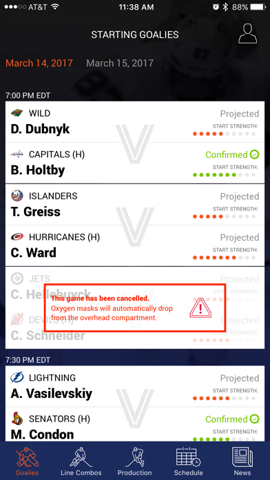 Left Wing Lock Fantasy Hockey screenshot